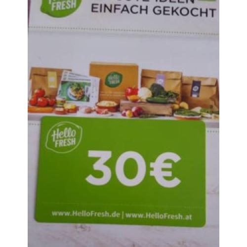 Biete:Hello fresh 30€Coupon